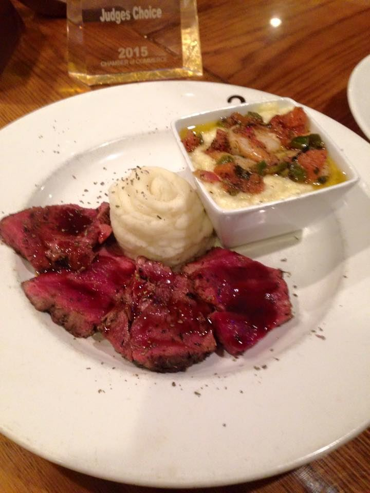 Wildcatter Steakhouse steak and mashed potatoes