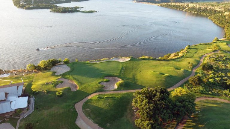 The Cliff's Resort aerial view of golf course
