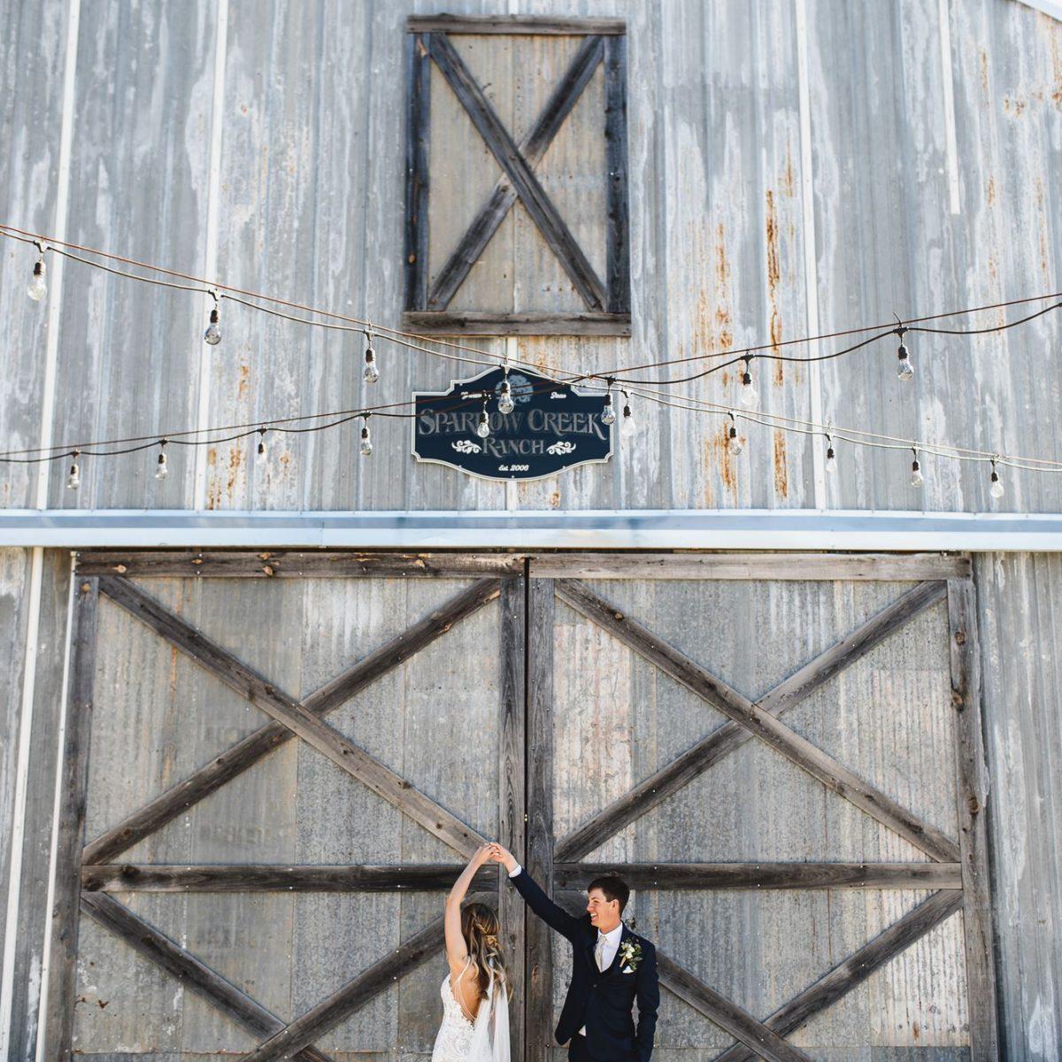 Sparrow Creek Ranch wedding photo of bride and groom