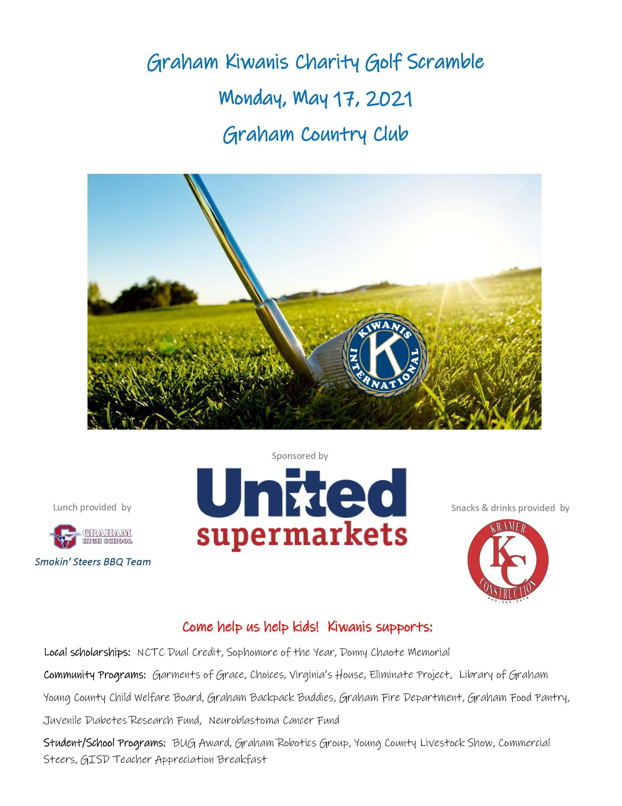 Kiwanis Golf Tournament flyer
